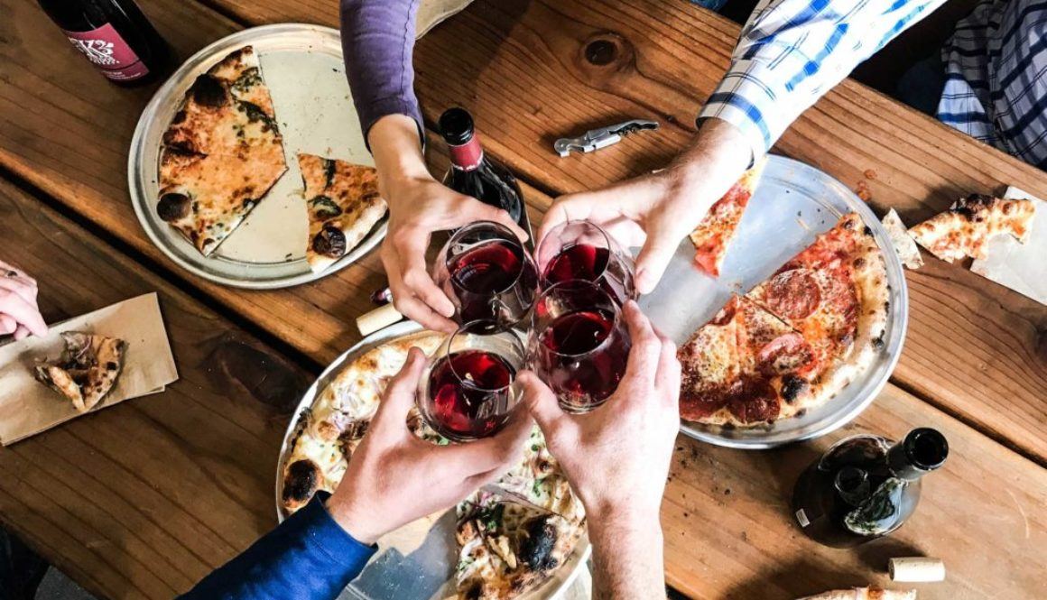 Kudos-Cheers-Pizza-Hands-friends